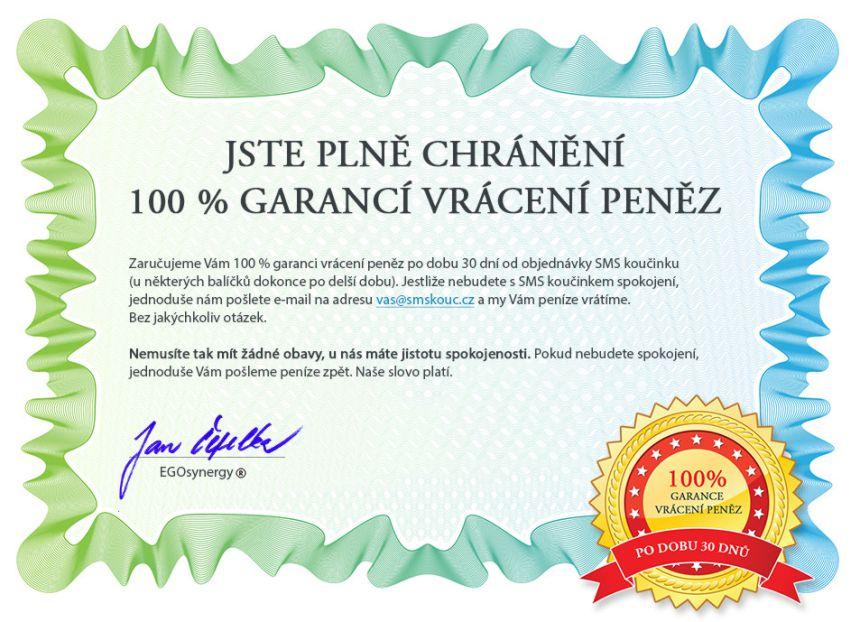 Certifikát vrácení peněz