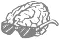 Mozek s brýlemi